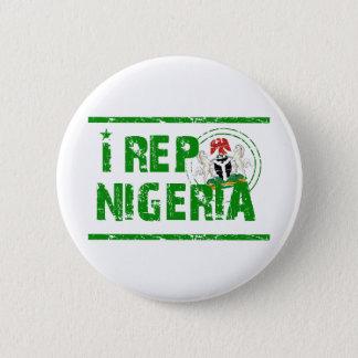 I rep Nigeria 6 Cm Round Badge
