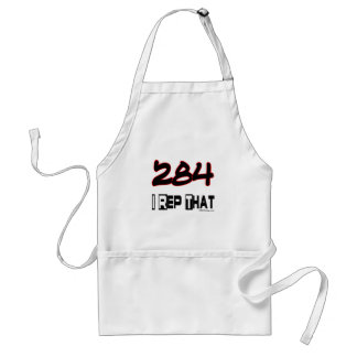 I Rep That 284 Area Code Adult Apron