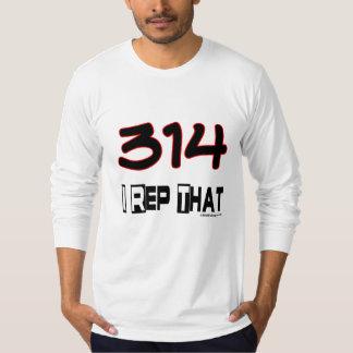 I Rep That 314 Area Code Tee Shirts