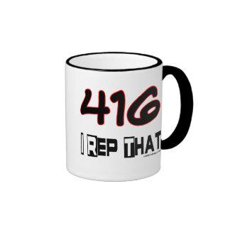 I Rep That 416 Area Code Coffee Mugs