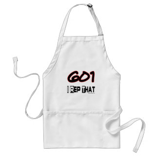 I Rep That 601 Area Code Adult Apron