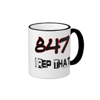 I Rep That 847 Area Code Mugs