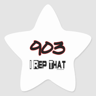 I Rep That 903 Area Code Star Sticker