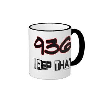 I Rep That 936 Area Code Mugs