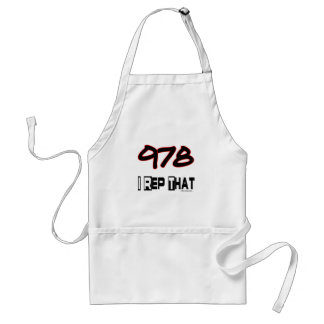 I Rep That 978 Area Code Adult Apron
