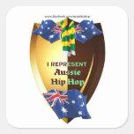 I Represent Australian hip hop Square Sticker