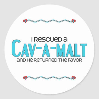 I Rescued a Cav-A-Malt (Male) Dog Adoption Design Stickers