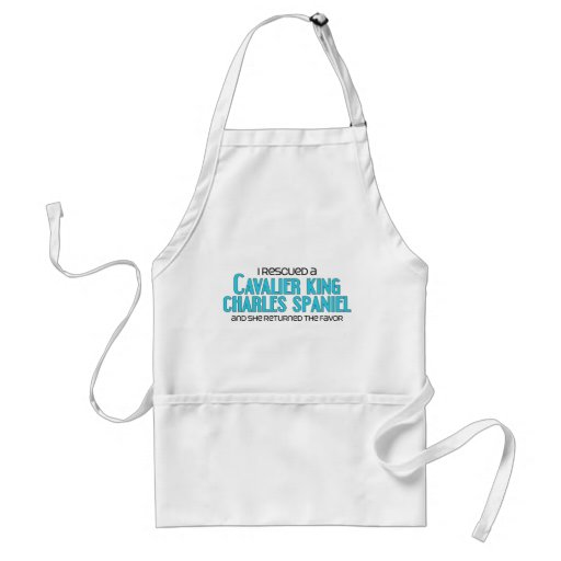 I Rescued a Cavalier King Charles Spaniel (Female) Aprons