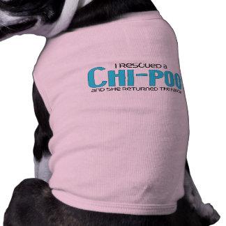 I Rescued a Chi-Poo Female Dog Adoption Design Dog Clothing