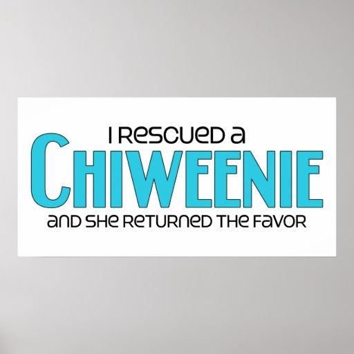 I Rescued a Chiweenie (Female) Dog Adoption Design Print