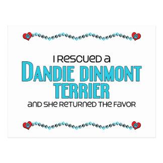 I Rescued a Dandie Dinmont Terrier (Female Dog) Postcard