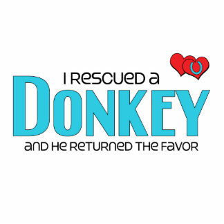 I Rescued a Donkey (Male Donkey) Photo Cut Out