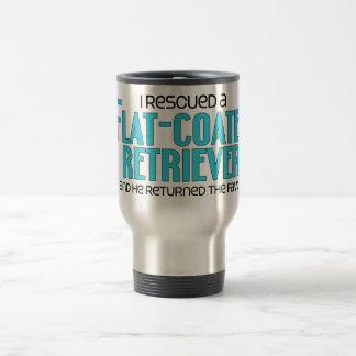I Rescued a Flat-Coated Retriever (Male Dog) Coffee Mug