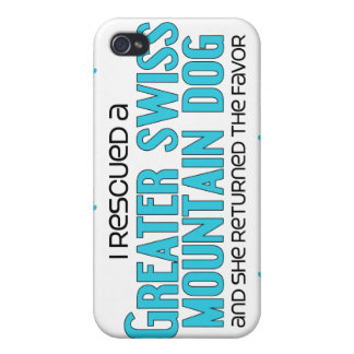 I Rescued a Greater Swiss Mountain Dog (Female) iPhone 4 Cover