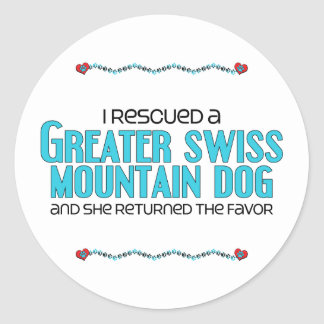 I Rescued a Greater Swiss Mountain Dog (Female) Stickers