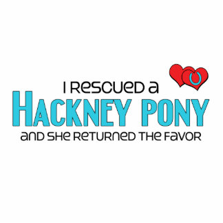 I Rescued a Hackney Pony (Female Pony) Acrylic Cut Out