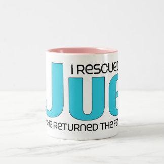 I Rescued a Jug (Male) Dog Adoption Design Coffee Mugs