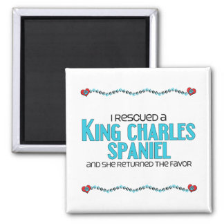 I Rescued a King Charles Spaniel (Female Dog) Magnet