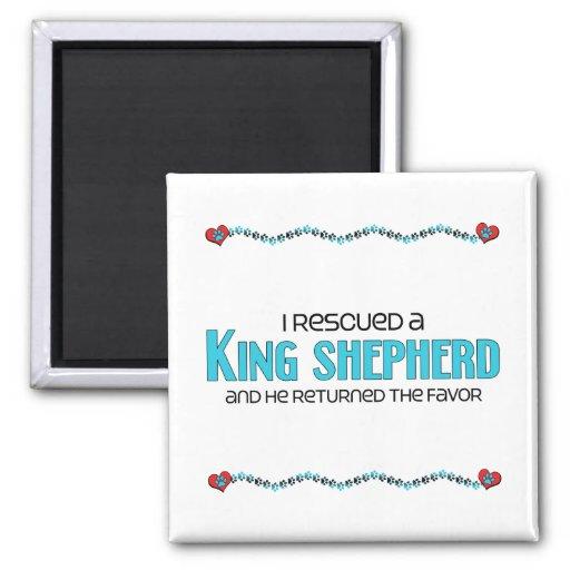 I Rescued a King Shepherd (Male Dog) Magnet