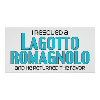 I Rescued a Lagotto Romagnolo (Male Dog) Print