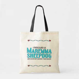 I Rescued a Maremma Sheepdog (Female Dog) Budget Tote Bag