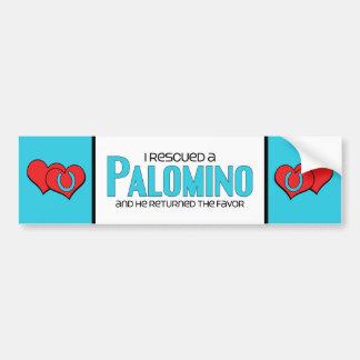 I Rescued a Palomino (Male Horse) Bumper Sticker
