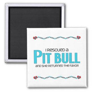 I Rescued a Pit Bull (Female Dog) Magnets