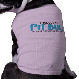 I Rescued a Pit Bull (Female Dog) Sleeveless Dog Shirt