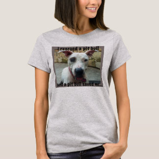 I rescued a pit bull Reunion tee