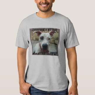 I rescued a pit bull Reunion tee shirt for men