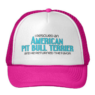 I Rescued an American Pit Bull Terrier (Male Dog) Mesh Hats