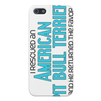 I Rescued an American Pit Bull Terrier (Male Dog) iPhone 5 Cover
