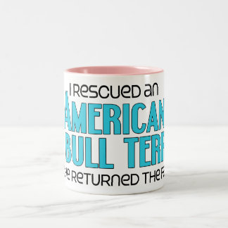 I Rescued an American Pit Bull Terrier (Male Dog) Mugs