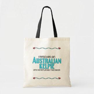 I Rescued an Australian Kelpie (Male Dog) Budget Tote Bag