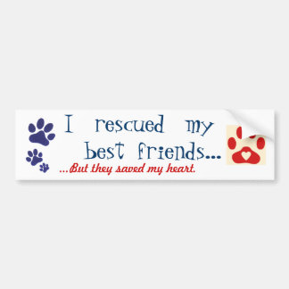 I rescued my best friend bumper sticker