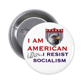 I Resist Socialism 6 Cm Round Badge