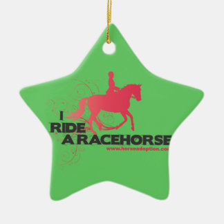 I Ride a Racehorse Tree Ornaments