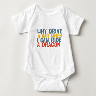 I Ride Dragon Funny Baby T-shirt for Gamers