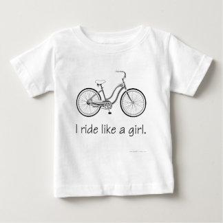 I ride like a girl. baby T-Shirt