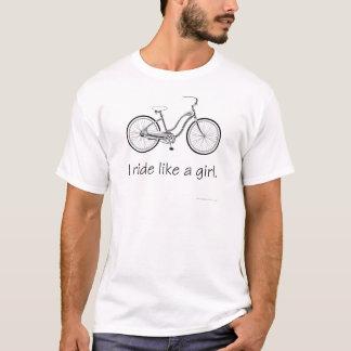 I ride like a girl. basic t-shirt