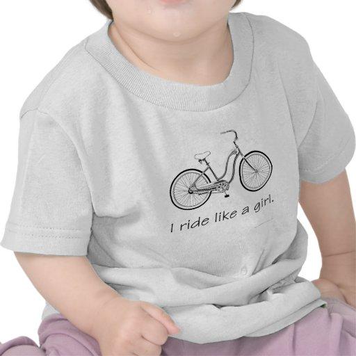 I ride like a girl. tee shirts