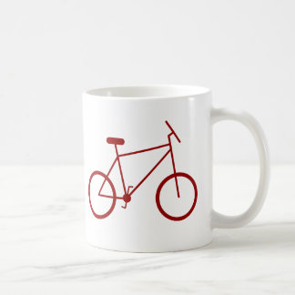 I ride my bike to work. (Red) Coffee Mug