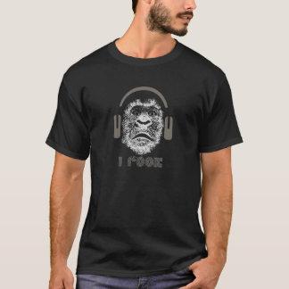 I Rock Gorilla Wearing Headphones T-Shirt