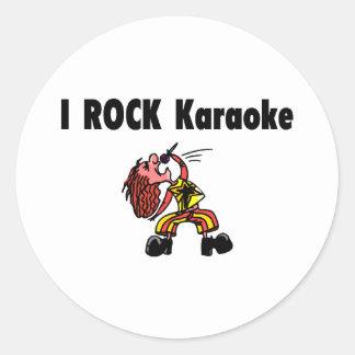 I Rock Karaoke Classic Round Sticker