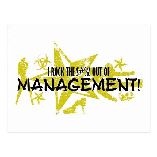I ROCK THE S#%! - MANAGEMENT POSTCARD