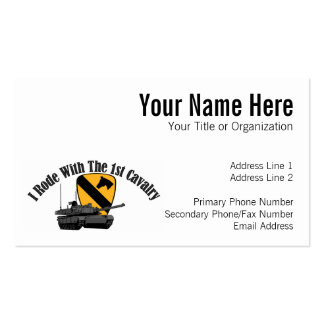 I Rode With The 1st Cav Business Card Template