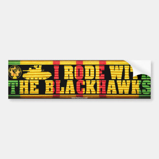 I Rode With the Blackhawks M551 Bumper Sticker