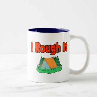 I rough it Two-Tone coffee mug