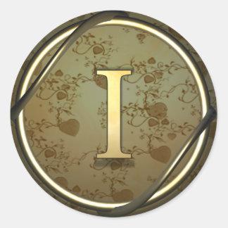 i round sticker
