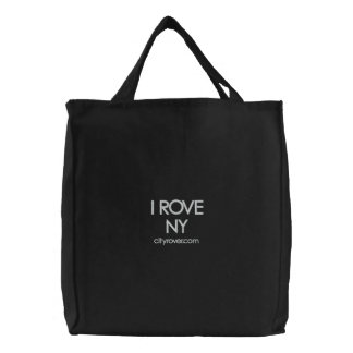 I ROVE NY Embroidered Tote Bag